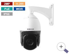 2MP PoE IP PTZ Camera with 30X Zoom