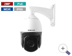 2MP PoE IP PTZ Camera with 20X Zoom
